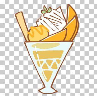 Sundae Ice Cream Cones Line PNG