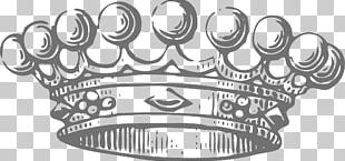 Crown Black And White PNG