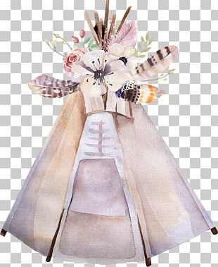 Tipi Watercolor Painting Photography PNG
