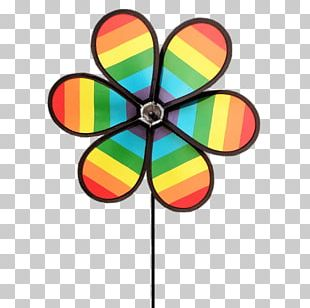 Coloured Windmill Toy PNG