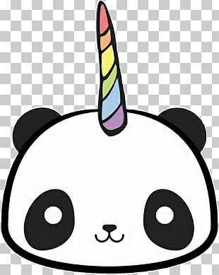 Giant Panda T-shirt Unicorn Kavaii Drawing PNG