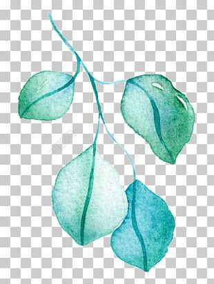 Watercolor Painting Leaf Green Drawing PNG