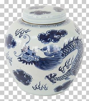 Blue And White Pottery Porcelain Vase Jar Ceramic PNG