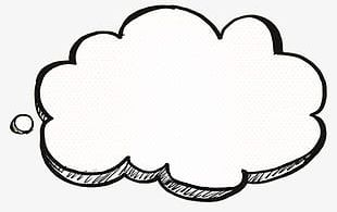 Cloud thinking. Clipart png images free