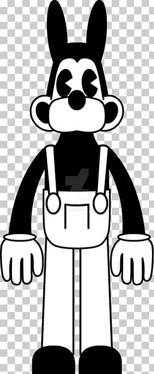 Bendy And The Ink Machine Drawing Black And White PNG