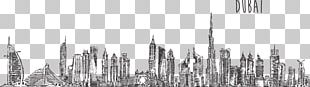 Burj Khalifa Skyline Drawing Stock Photography PNG