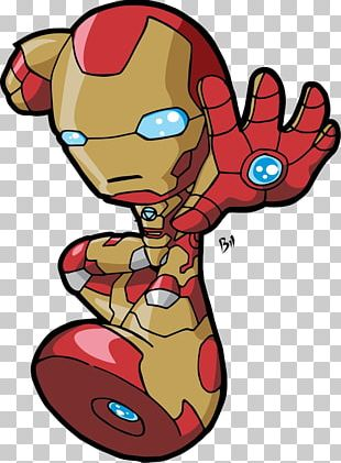 Iron Man Drawing Chibi Comics PNG