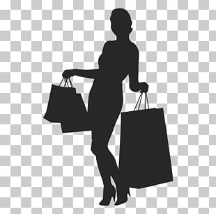 Black Friday Shopping Silhouette Woman PNG