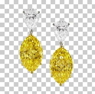Earring Diamond Color Jewellery PNG