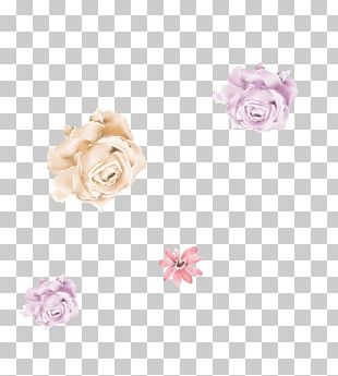 Garden Roses Body Jewellery Cut Flowers Pink M PNG
