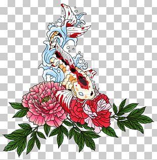 Koi Sleeve Tattoo Irezumi Peony PNG