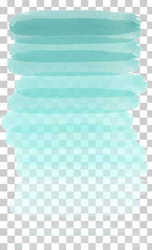 Ombré Watercolor Painting Blue Tints And Shades PNG