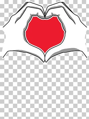 Hand Heart Drawing PNG