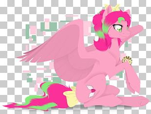 Illustration Horse Design Pink M PNG