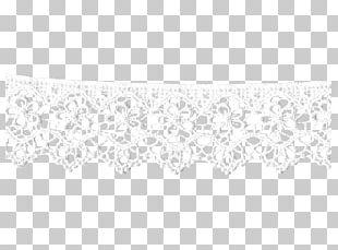 Lace White Textile Line Art Point PNG