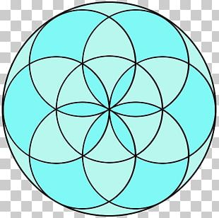 Sacred Geometry Overlapping Circles Grid Shape PNG