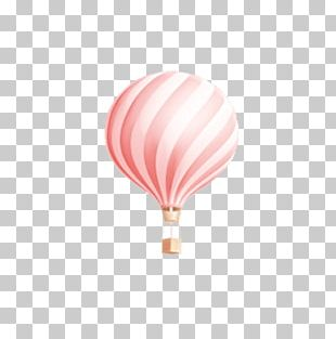 Hot Air Balloon Pink PNG