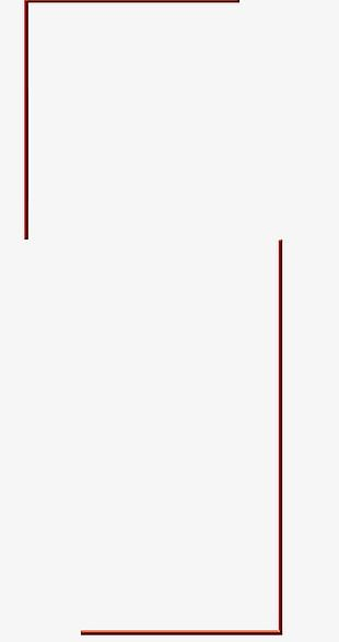 Red Rectangle Line Pattern PNG