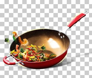 Wok Dish Tableware Recipe Frying Pan PNG