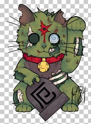 Cat Maneki-neko Zombie PNG