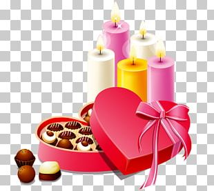 Chocolate Heart Gift Valentines Day PNG