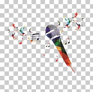 Microphone Watercolor Painting PNG