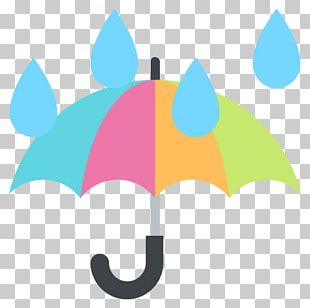 Emoji Umbrella Rain Text Messaging SMS PNG