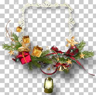 New Year Christmas Ornament Ded Moroz Floral Ornament PNG