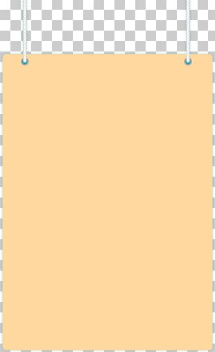 Paper Frame Yellow Pattern PNG