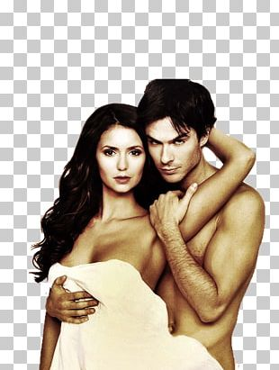 Nina Dobrev Ian Somerhalder The Vampire Diaries Damon Salvatore Elena Gilbert PNG
