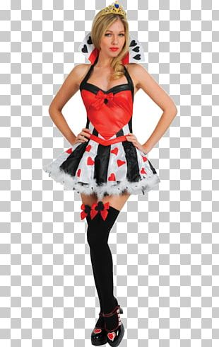 Queen Of Hearts Costume Party Halloween Costume Dress PNG