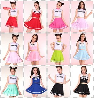 Cheerleading Uniforms Costume Skirt PNG
