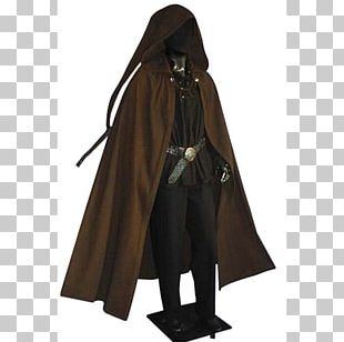 Middle Ages Robe Cloak Hood Cape PNG