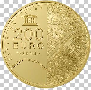 Coin 200 Euro Note Gold Monnaie De Paris Silver PNG