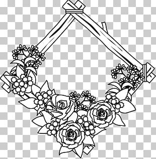 Flower Line Art Drawing Floral Design PNG