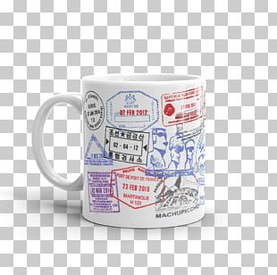 Mug Coffee Cup Espresso Postage Stamps PNG