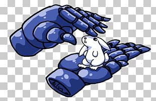 Cobalt Blue Finger Animal PNG