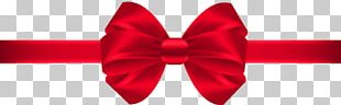 Red Ribbon Bow Tie Silk PNG