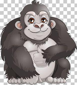 Western Gorilla Ape Chimpanzee Monkey PNG