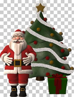 Santa Claus Village Christmas Tree Religious Festival PNG