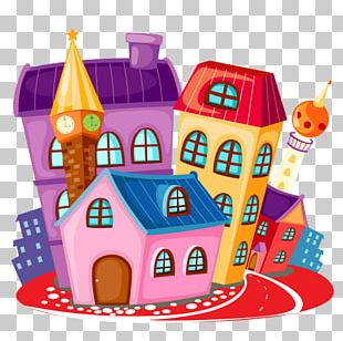 Building House Cartoon PNG