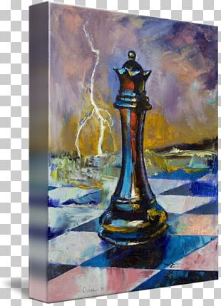 Chess Queen Art Painting Canvas PNG