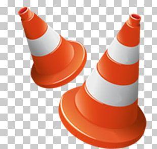 Traffic Cone Orange Icon PNG