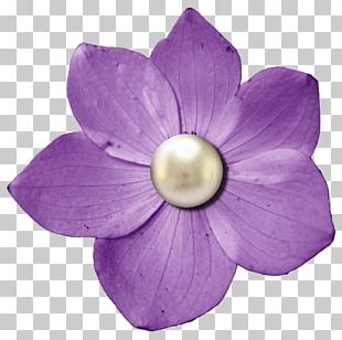 Digital Scrapbooking Flower Button PNG
