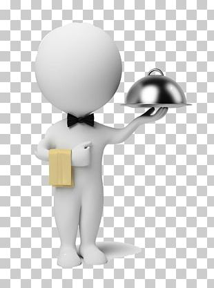 Waiter Stock Photography 3D Computer Graphics Illustration PNG