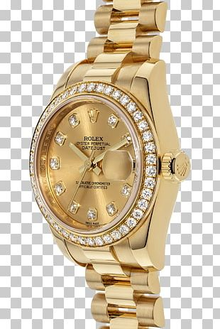 Rolex Datejust Watch Colored Gold Jewellery PNG