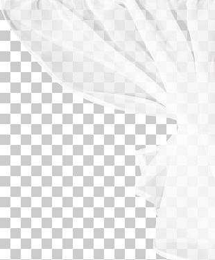 Black And White Silk Textile PNG