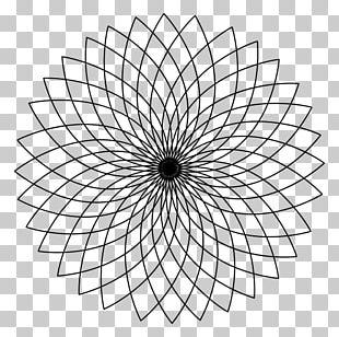 Sacred Geometry Circle Spirograph PNG