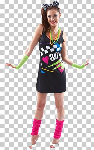 1980s T-shirt Costume Party Dress PNG