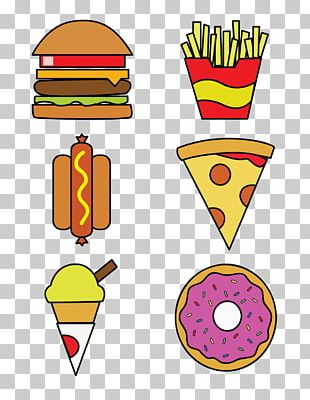 Ice Cream Fast Food French Fries Hamburger Pizza PNG